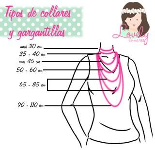 Medidas de collares y gargantillas